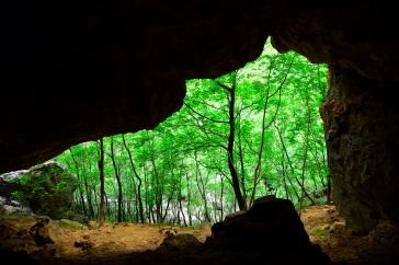 Blick aus der Höhle Kapljarka