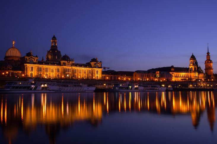 Blick auf die Dresdner Altstadt