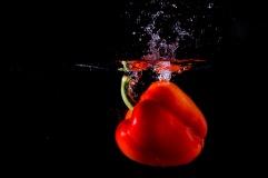Paprika im Wasser