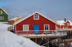Häuser von Henningsvær