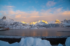 Sonnenaufgang mit Nebel Kalle Lofoten