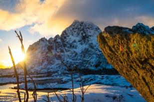 Sonnenuntergang am Vågakallen
