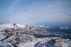 Blick vom Kamm auf Svolvær