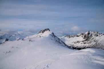 Spitze von Tjeldbergtinden