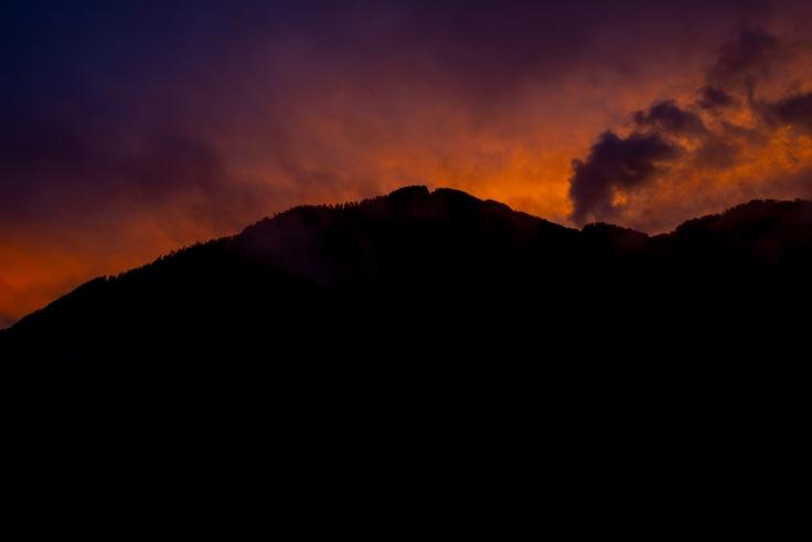 Sonnenuntergang Predazzo