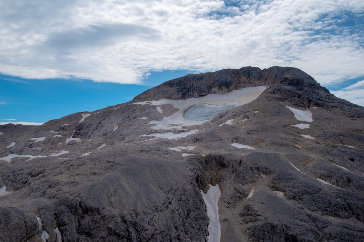 Überreste des Fradusta Gletscher