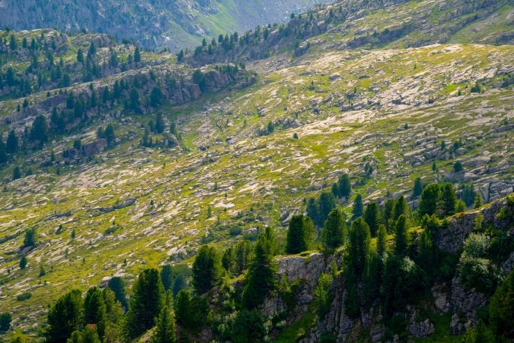 Blick in Richtung Wanderweg zum Klettersteig