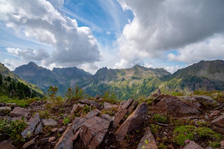 Bergkamm mit Blick auf Cima di Val Moena