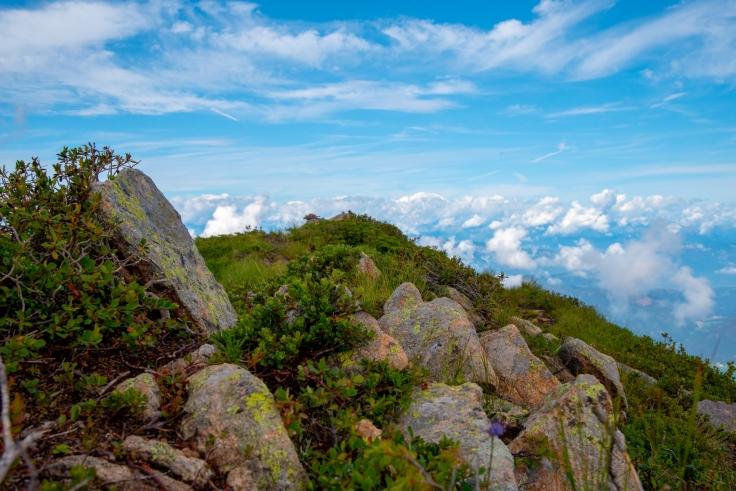 Bergkamm mit Blick ins Tal
