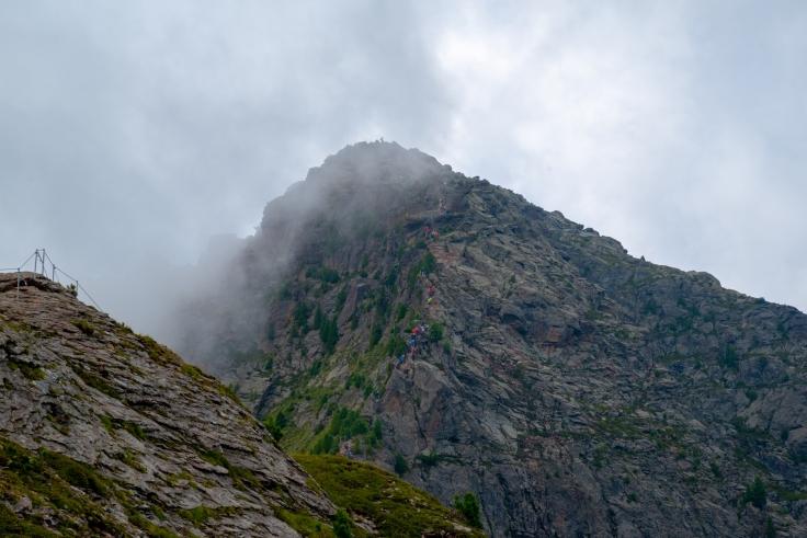 Blick auf Klettersteig