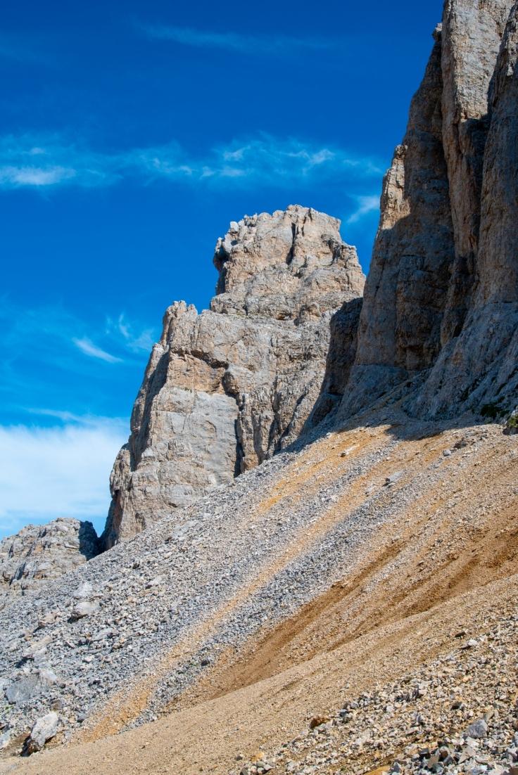 Felsformationen am Aufstieg zur Hütte