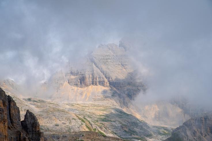 Blick auf Latemarspitze und Valsordakessel
